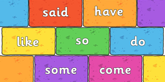 Phase 4 Tricky Words on Multicoloured Bricks - phase four, words, phase4 tricky words