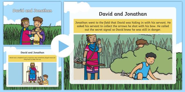 David and Jonathan Story PowerPoint - Christian story, friendship story, king saul