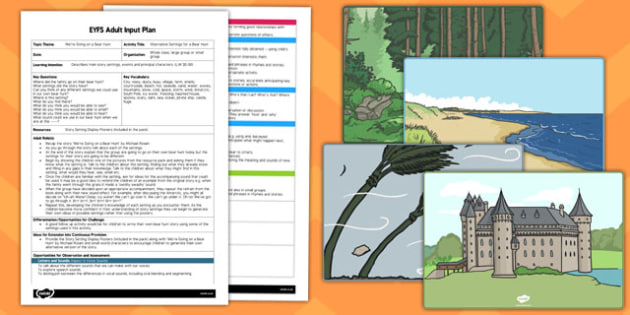 Alternative Settings for a Bear Hunt EYFS Adult Input Plan and Resource Pack