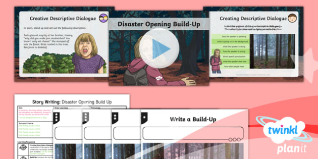 Extreme Earth: Earthquakes and Volcanoes Lesson Pack Story Writing (3)