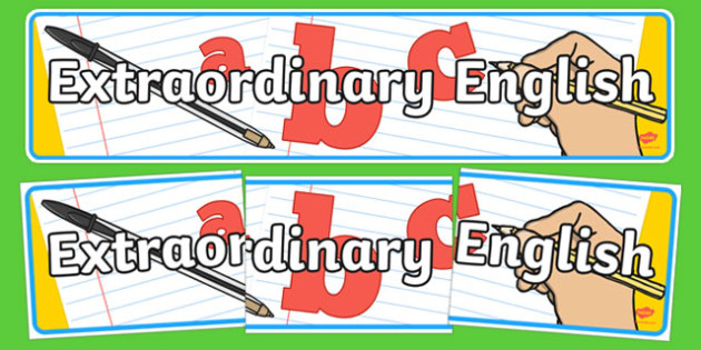 Extraordinary English Display Banner - extraordinary english, display banner, banner, header, banner display, display header, header display, display