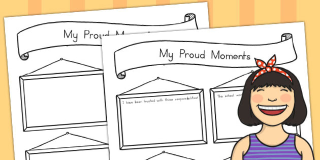 My Proud Moments Writing Template - australia, my, proud, moments