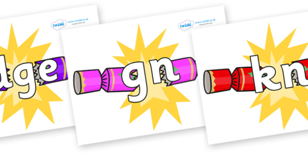 Silent Letters on Christmas Crackers (Cracking) - Silent Letters, silent letter, letter blend, consonant, consonants, digraph, trigraph, A-Z letters, literacy, alphabet, letters, alternative sounds