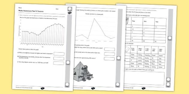 Year 5 Maths Assessment Statistics Term 1 - year, 5, assessment, maths
