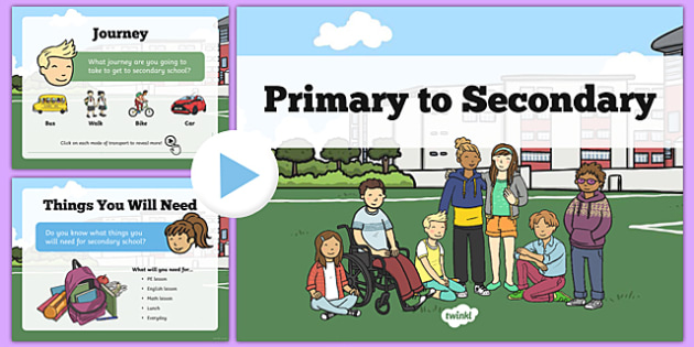 Primary to Secondary School Transition PowerPoint - primary, secondary, transition, information, powerpoint, transition powerpoint, transition information