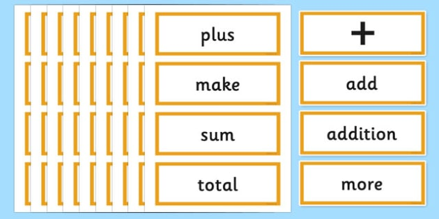 Year 2 Maths Vocabulary Word Cards Calculations - year 2 maths, maths vocabulary, maths, calculations, word cards, numbers, year 2, numeracy