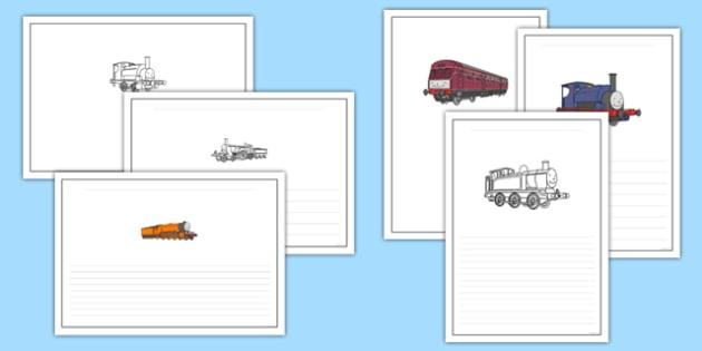 Talking Steam Train Themed Writing Frames - thomas the tank engine, talking steam train, writing frames