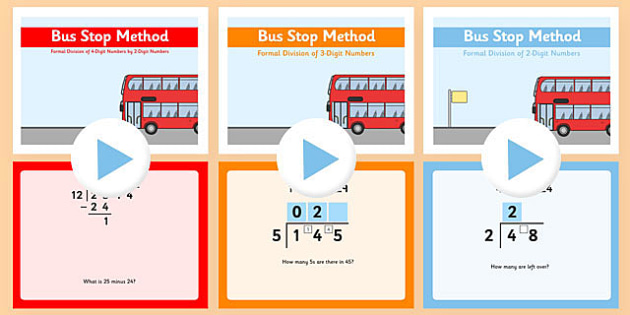 Formal Division Bus Stop Method PowerPoint Pack - formal, division, bus stop, method, powerpoint