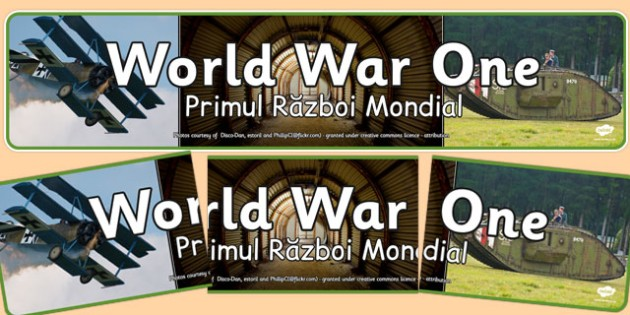 World War One Photo Display Banner Romanian Translation - romanian, world war one