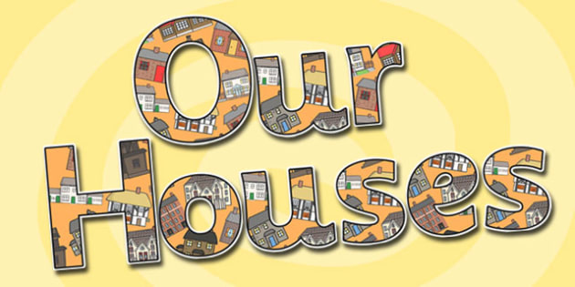 Our Houses Display Lettering - our houses, houses, display lettering, houses display lettering, lettering, display, display letters, lettering for display