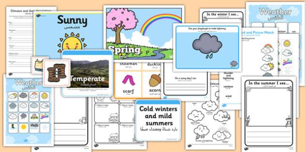 Weather Activity Pack Arabic Translation - arabic, weather, activity, pack