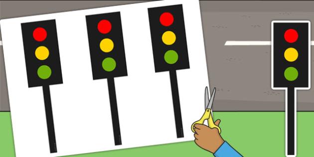 Traffic Light Cut Outs - traffic light, cut outs, display, lights