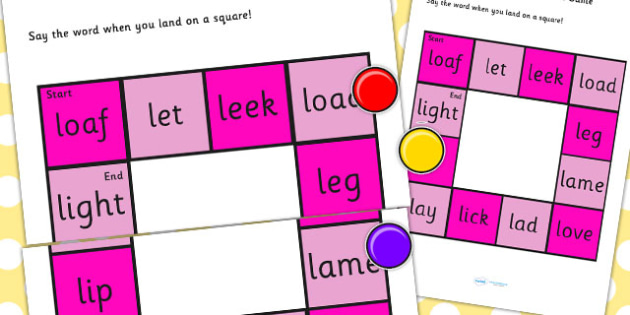 Initial 'L' Production Game - I, vowel, sound, sounds, game
