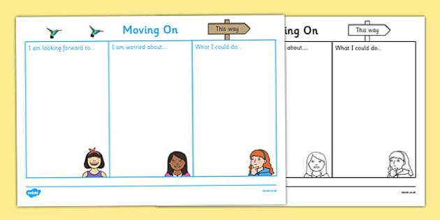 SEN Moving On Worksheet - sen, moving on, worksheet, sheet, work
