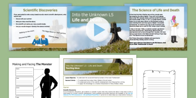 Into the Unknown Pre-1914 Literature Lesson Pack 5: Life and Death - Frankenstein, Shelley, Galvanism, Context