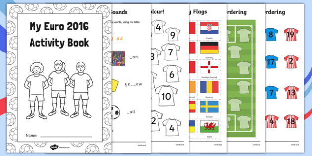 EYFS Euro 2016 Reception FS2 Activity Booklet