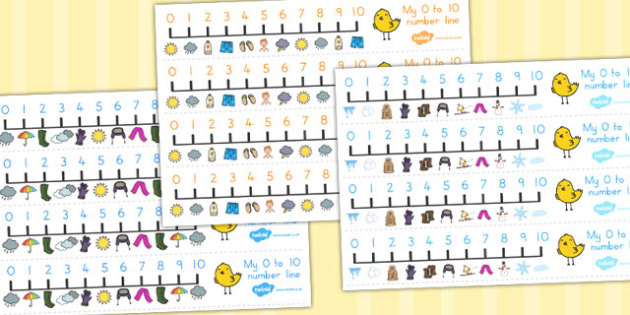 Winter Themed Number Line 0 10 - count, counting aid, counting