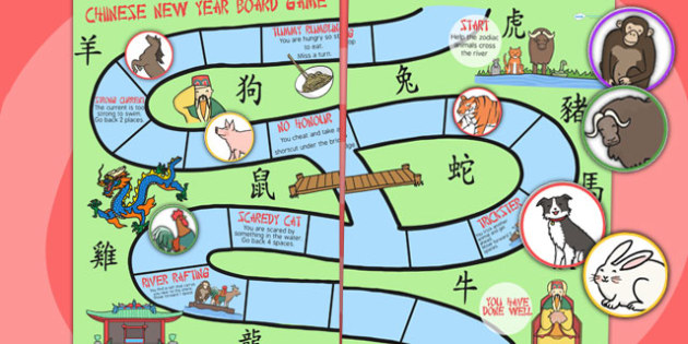 Chinese New Year Animal Race Board Game - - Australia, chinese new year