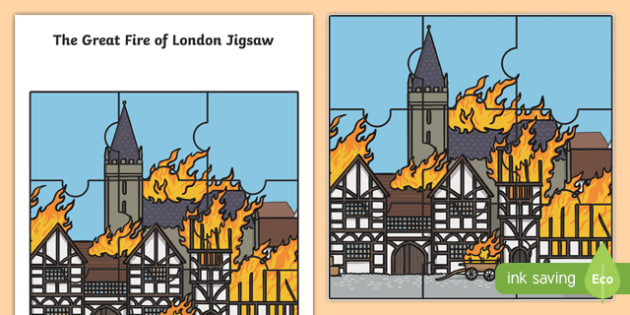 The Great Fire of London Scene Jigsaw Activity