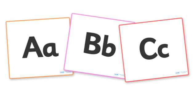 A-Z Alphabet on Display Squares - Alphabet freize, display, poster, Initial sound posters, Sound picture cards, Phonics,  DfES Letters and Sounds