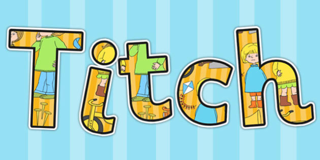 Display Lettering to Support Teaching on Titch - stories, story books, titch, letters