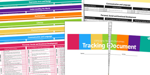 EYFS Early Years Outcomes Tracking for 3 Terms Birth 50 Months