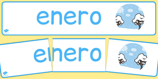Enero Display Banner Spanish - spanish, months, year, months of the year, january