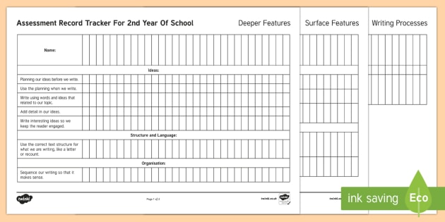 New Zealand 2nd Year of School Writing Assessment Tracker - Assessment, Literacy, Writing, 2nd Year of School, assessment tracker, tracker