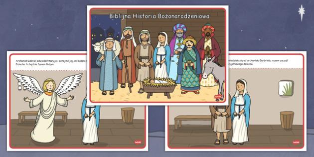 Biblijna Historia Bożonarodzeniowa po polsku - święta, Jezus