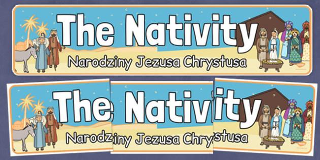 Nativity Display Banner Polish Translation - polish, nativity, display banner, display, banner