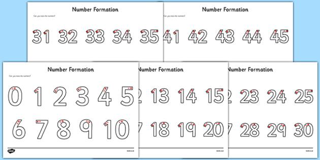 Number Formation Activity Sheets Pack - number formation, activity sheet, activity, number, formation, pack, worksheet