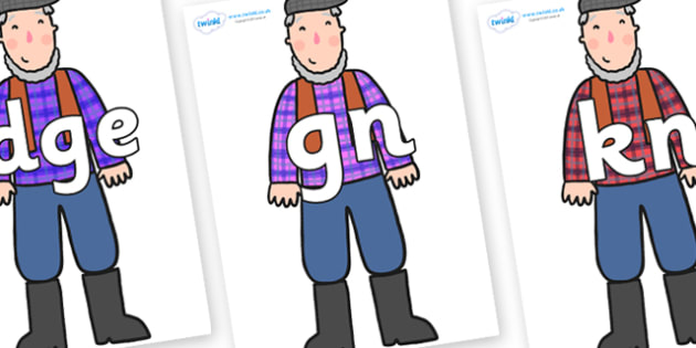Silent Letters on Farmer to Support Teaching on What the Ladybird Heard - Silent Letters, silent letter, letter blend, consonant, consonants, digraph, trigraph, A-Z letters, literacy, alphabet, letters, alternative sounds