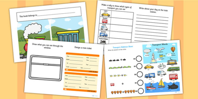 Train Transport Activity Booklet - activities, transport games