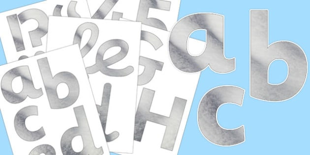 Snow Texture Display Letters and Numbers Pack - display, letters