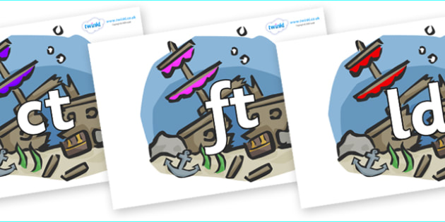 Final Letter Blends on Ship Wrecks - Final Letters, final letter, letter blend, letter blends, consonant, consonants, digraph, trigraph, literacy, alphabet, letters, foundation stage literacy