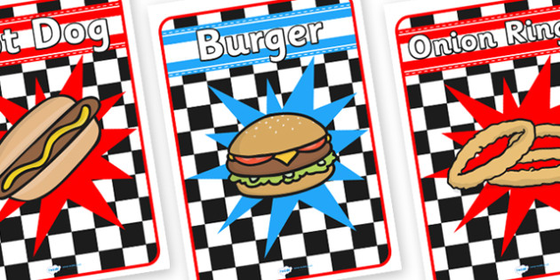 American Diner Role Play Posters-american diner, role play, diner role play, poster, diner posters, american posters, role play posters, diner