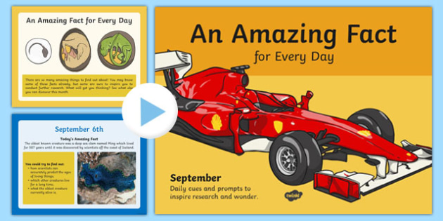 An Amazing Fact a Day September PowerPoint - amazing, fact, day, september