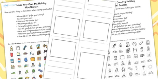 Make Your Own My Holiday Mini Booklet - holiday, booklet, design