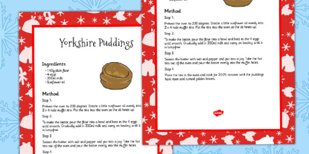 How to Cook Yorkshire Puddings Recipe Card - recipes, cooking