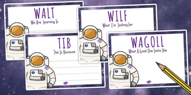 Space Themed WALT WILF TIB WAGOLL Posters - class management