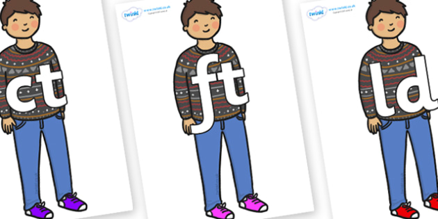 Final Letter Blends on Little Boy - Final Letters, final letter, letter blend, letter blends, consonant, consonants, digraph, trigraph, literacy, alphabet, letters, foundation stage literacy
