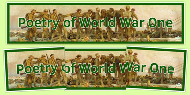 Poetry of World War One Display Banner - poetry, world war one, display banner, display
