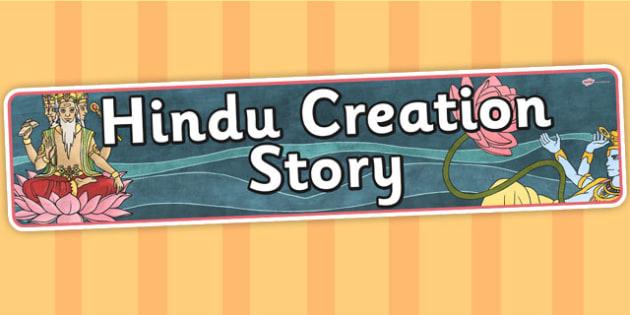 Hindu Creation Story Display Banner - hinduism, religion, RE
