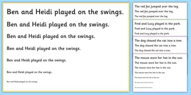 Visual Tracking Exercises Sentences - visual, tracking, exercises, sen, sentences