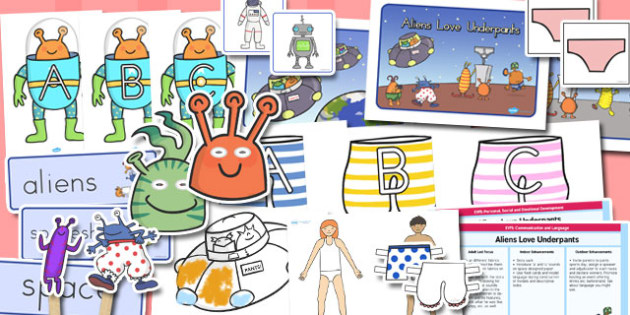 EYFS Lesson to Support Teaching on Aliens Love Underpants - australia, aliens, underpants