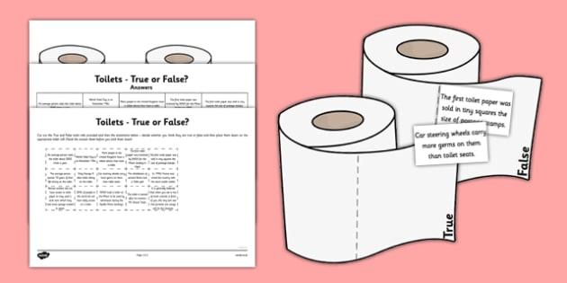 Toilets Through Time True or False - toilets, toilets through time, true, false
