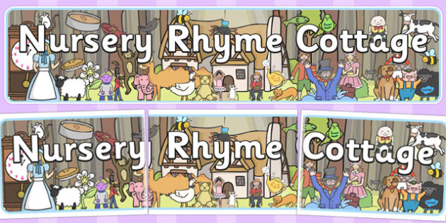 Nursery Rhyme Cottage Banner - nursery, rhyme, cottage, banner