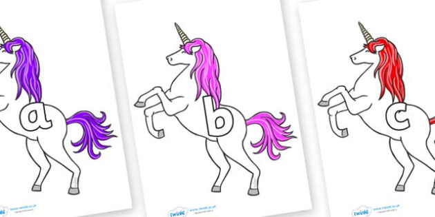 Phase 2 Phonemes on Unicorn - Phonemes, phoneme, Phase 2, Phase two, Foundation, Literacy, Letters and Sounds, DfES, display