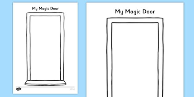 My Magic Door Activity Sheet - my magic door, activity sheet, activity, magic door, imagination, worksheet