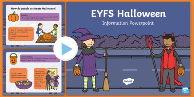 EYFS All About Halloween PowerPoint